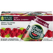 Hansen's Soda, Premium, Black Cherry, Diet