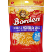 Borden Finely Shredded Cheese Blend, Colby and Monterey Jack