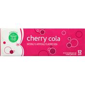 Food Club Soda, Cherry Cola, 12 Pack