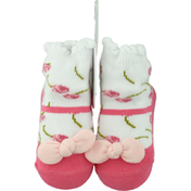 Mud Pie Baby Sock, Petite Rose