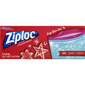 Ziploc Bags, Seal Top, Storage, Quart