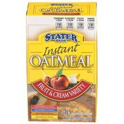 Stater Bros. Markets Fruit & Cream Variety Instant Oatmeal