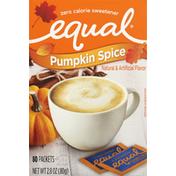 Equal Sweetener, Zero Calorie, Pumpkin Spice