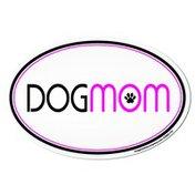 Imagine This Dog Mom Oval Car Magnet