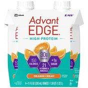 EAS High Orange Cream EAS AdvantEDGE High Protein Nutrition Shake Orange Cream Ready-to-Drink Bottles