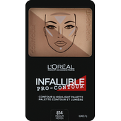L'Oreal Contour & Highlight Palette, Medium 814