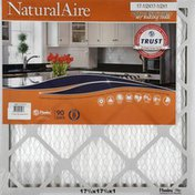 NaturalAire Air Cleaning Filter, Odor Eliminator with Baking Soda, 17-1/2 x 17-1/2 x 1