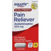 Equate Pain Reliever, Extra Strength, 500 mg, Caplets