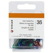 Singer Safety Pins, Color
