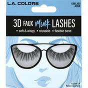 L.A. Colors False Lashes, 3D Faux Mink, Jodie