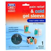 Rite Aid Pain Relief Hot & Cold Gel Sleeve, Knee/Ankle/Elbow, Medium, 1 Count