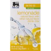 Food Lion Drink Mix, Lemonade, Low Calorie, On-The-Go