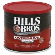 Hills Bros Coffee, Ground, Medium Roast, Overdrive
