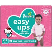 Pampers Easy Ups Training Underwear Girls Size 6 4T-5T