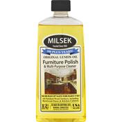 Milsek Furniture Polish & Multi-Purpose Cleaner, Original Lemon Oil