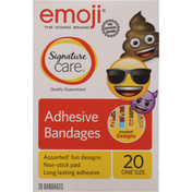 Signature Care Bandages, Adhesive, Assorted Designs, One Size