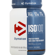 Dymatize ISO100 Hydrolyzed Protein Powder Fudge Brownie