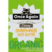 Once Again Sunflower Seed Butter, Organic, Creamy, Lightly Sweetened, 10 Pack