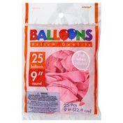 Amscan Balloons, 9 Inch, Helium Quality, Round, New Pink
