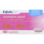 Equaline Stomach Relief, 262 mg, Caplets