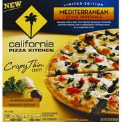 California Pizza Kitchen Pizza, Crispy Thin Crust, Mediterranean Style Vegetable