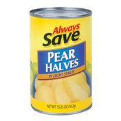 Always Save Pear Halves In Light Syrup