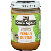 Once Again Peanut Butter, Crunchy, Organic, Lightly Sweetened