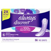 Always Discreet Extra Heavy Long Incontinence Pads