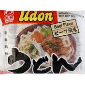 Myojo Udon Japanese Style Noodles With Soup Base Beef