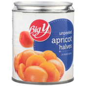 Big Y Unpeeled Apricot Halves In Heavy Syrup
