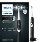 Philips Sonicare ProtectiveClean 4100 Plaque Control, Rechargeable electric toothbrush with pressure sensor, Black HX6810/50