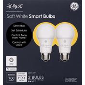 GE Light Bulbs, Smart, LED, Soft White, 9.5 Watts