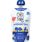 Once Upon a Farm Overnight Oats, Organic & Dairy Free, Blueberry