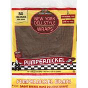 Tumaro's Wraps, Large, New York Style, Pumpernickel