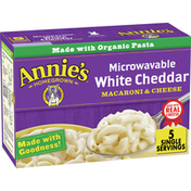 Annie's White Cheddar Macaroni & Cheese, Microwavable Mac & Cheese