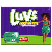 Luvs with Ultra Leakguards Mega Pack Size 6 Diapers