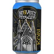 Bravery Brewing Beer, Kolsch Style Ale, Kobi