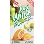 JJ's Bakery Pies, Apple, Mini, 6 Pack