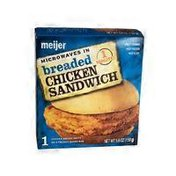 Meijer breaded CHICKEN SANDWICH