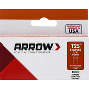 Arrow Staples, T25, 3/8 Inches