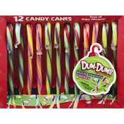 Dum Dums Candy Canes, Blu Raspberry, Cherry, Watermelon