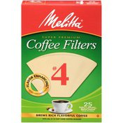 Melitta Natural Brown Size Melitta Natural Brown #4 Size Paper Cone Coffee Filters