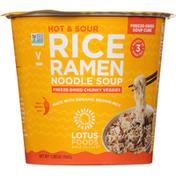 Lotus Foods Rice Ramen Noodle Soup, Hot & Sour, Medium
