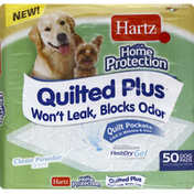 Hartz Quilted Plus Home Protection Pet Pad Clean Powder Scent