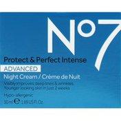No7 Night Cream, Advanced, Protect & Perfect Intense