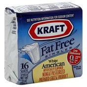 Kraft Cheese Product, Nonfat Pasteurized Prepared, White American, Fat Free