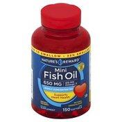 Nature's Reward Fish Oil, Mini, 650 mg, Softgels, Natural Lemon Flavor