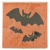 CR Gibson Napkins, Beverage, Whimsy Halloween Bats, 2-Ply