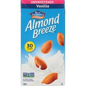Almond Breeze Almond Beverage, Fortified, Vanilla, Unsweetened