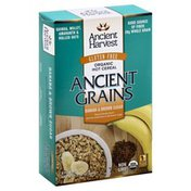 Ancient Harvest Hot Cereal, Banana & Brown Sugar, Ancient Grains, Organic, Box